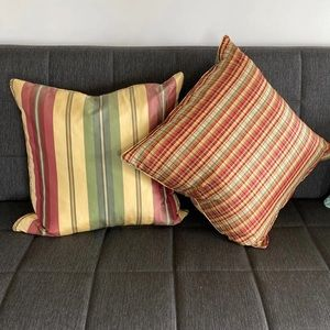 Other - NWOT Reversible Plaid Down Pillows